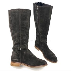 Clark Suede Dark Brown Knee High Boots Size 10